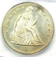 1868 SEATED LIBERTY SILVER DOLLAR $1 - CERTIFIED ICG MINT STATE 63 PL - $7,810 VALUE