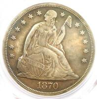 1870-CC SEATED LIBERTY DOLLAR $1 - PCGS AU DETAILS -  CARSON CITY COIN
