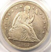 1843 SEATED LIBERTY SILVER DOLLAR $1 - ANACS EXTRA FINE 40 DETAIL -  EARLY DATE COIN