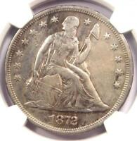 1872 SEATED LIBERTY SILVER DOLLAR $1 - NGC EXTRA FINE  DETAILS -  CERTIFIED COIN