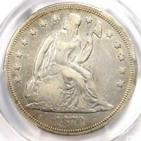 1870-CC SEATED LIBERTY DOLLAR $1 - PCGS VF DETAILS - CARSON CITY COIN - LOOKS EXTRA FINE