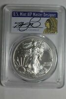 2018 $1 SILVER EAGLE PCGS MS70 FIRST DAY ISSUE CLEVELAND NATIVE 853