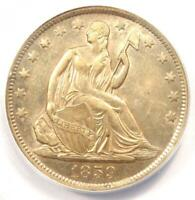 1859-O SEATED LIBERTY HALF DOLLAR 50C COIN - CERTIFIED ANACS AU53 -  LUSTER