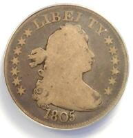1805 DRAPED BUST QUARTER 25C - ANACS G6 -  DATE - CERTIFIED COIN