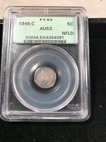 1946 C NEWFOUNDLAND FIVE 5 CENTS  KEY DATE PCGS GREEN LABEL