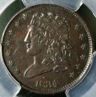 AU-50 WOW  1834 CLASSIC HEAD HALF CENT PCGS AWESOME CHOCOLATE BROWN