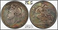 1821 GREAT BRITAIN CROWN PCGS VG08 GOOD SILVER UK VINTAGE CLASSIC COIN