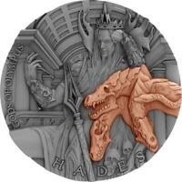 NIUE 2018 $5 GODS OF OLYMPUS HADES HIGH RELIEF ANTIQUE FINIS