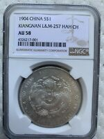 CHINESE SILVER COIN KIANGNAN 1904 WITH  HAH CH  NGC AU58