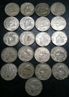 OLD COINS LOT 21 DIFF MEXICO JOSE MORELOS PESO DATE RUN 1970
