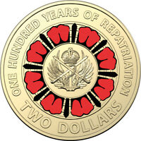 2019 ANZAC 100 YEARS OF REPATRIATION $2 TWO DOLLAR COIN LOOSE UNC AUSTRALIA