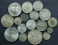 FOREIGN SILVER COIN LOT: COLLECTION OF OLD WORLD SILVER COIN