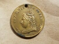 1897 QUEEN VICTORIA JUBILEE CANADIAN MEDAL CANADA COIN LEROUX 1875N NICE