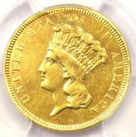 1854 O THREE DOLLAR INDIAN GOLD COIN $3   PCGS XF DETAILS  EF