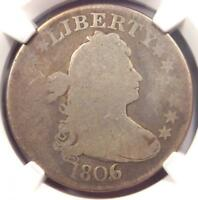 1806/5 DRAPED BUST QUARTER 25C COIN   CERTIFIED NGC GOOD DETAILS    COIN
