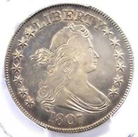 1807 DRAPED BUST HALF DOLLAR 50C COIN - CERTIFIED PCGS AU DETAILS -  IN AU
