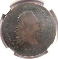 1795 FLOWING HAIR SILVER DOLLAR $1 COIN - NGC GOOD DETAIL -  COIN