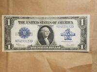 1923 $1 SILVER CERTIFICATE SPEELMAN WHITE LARGE SIZE NOTE FR 237 EXTRA FINE EF