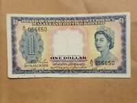 1953 MALAYA AND BRITISH BORNEO $1 1 DOLLAR COLONIAL UK MALAYSIA P 1A RADAR NOTE