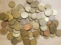 1 POUND OF COINS FROM GERMANY ONE LB GERMAN LOT PFENNIG 1 TO 10 PFENNIGS