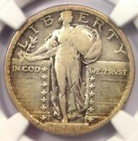 1918/7-S STANDING LIBERTY QUARTER 25C OVERDATE COIN - NGC VG8 -  KEY DATE