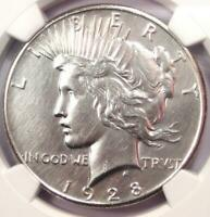 1928 PEACE SILVER DOLLAR $1 - NGC AU DETAILS -  1928-P KEY DATE COIN