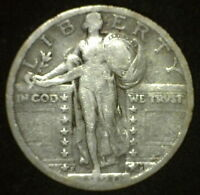 1920-S STANDING LIBERTY QUARTER TEARDROP DIE BREAK