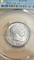1817 GREAT BRITAIN SHILLING  PCGS MINT STATE 64