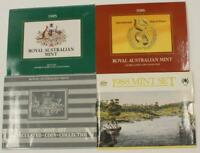 1985   1988 ROYAL AUSTRALIAN MINT 4X UNCIRCULATED COIN SETS COLLECTION 1986 1987