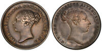 BRITAIN VICTORIA.  1838 87  AR SIXPENCE. PCGS XF45 MINT ERROR SCBC 3908A