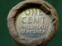 ROLL OF WHEAT PENNIES W/ WWII STEEL WHEAT  & 1908 INDIAN HE