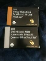 2011 US MINT PRESIDENTIAL  $1 COIN PROOF SET & US MINT SILVE