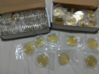 70   US SELLER  BITCOIN GOLD PLATED PHYSICAL COIN COLLECTIBL