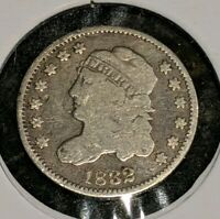 1832 CAPPED BUST SILVER HALF DIME NICELY CIRCULATYED HIGHLY