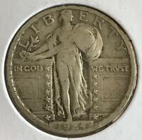 1924 - STANDING LIBERTY QUARTER 25 US COIN - 90 SILVER - COINAGE