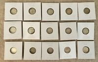 CANADIAN CANADA SILVER COIN DIME LOT OF 15  1940/1942/1946/1