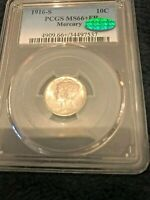 1916 S MERCURY DIME PCGS MS66 FB