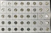 LOT OF 40 DIFFERENT WASHINGTON QUARTERS 1942 1964 D ALL NICE