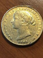 1865 SY SYDNEY MINT  DATE GOLD FULL SOVEREIGN   CIRCULATED