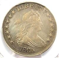 1806 DRAPED BUST HALF DOLLAR 50C O-116 - PCGS VF DETAILS -  CERTIFIED COIN