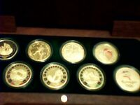 COMPLETE AUSTRALIA SYDNEY 2000 OLYMPIC 8 COINS SET W/BOX ONL