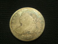 1830 CAPPED BUST DIME SILVER EACH ADDITIONAL COIN SHIPS FREE EARLY TYPE COIN