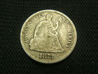 1873  SEATED LIBERTY HALF DIME 90 SILVER EACH ADDITIONAL COIN SHIPS FREE