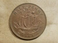 1944 GREAT BRITAIN 1/2 PENNY BRITISH HALFPENNY UNITED KINGDOM UK UNCIRCULATED MS