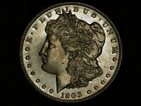 UNCIRCULATED 1903 MORGAN DOLLAR WITH PROOFLIKE SURFACE