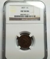 Click now to see the BUY IT NOW Price! 1877 INDIAN HEAD CENT 1C PENNY NGC AU 58