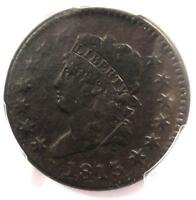 1813 CLASSIC LIBERTY HEAD LARGE CENT 1C - PCGS EXTRA FINE  DETAIL EF -  THIS SHARP