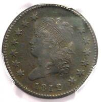 1812 CLASSIC LIBERTY HEAD LARGE CENT 1C - PCGS EXTRA FINE  DETAIL EF -  THIS SHARP