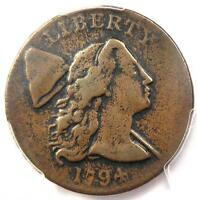 1794 LIBERTY CAP LARGE CENT 1C - CERTIFIED PCGS VF DETAILS -   LOOK