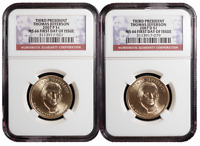 2007 P&D $1 3RD THOMAS JEFFERSON SET NGC MS66 FIRST DAY OF I